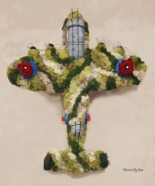 Lancaster Bomber Floral Tribute