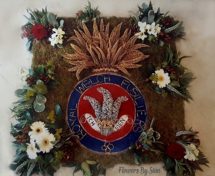 Welsh Fusiliers Floral Tribute