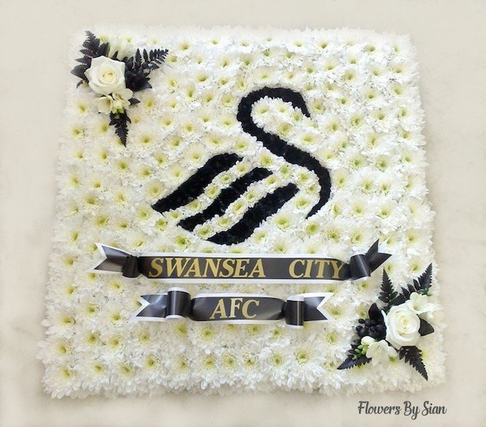 Swansea City FC Tribute Flower Arrangement