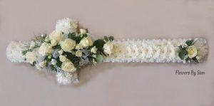 FUNERAL FLOWERS WHITE CROSS