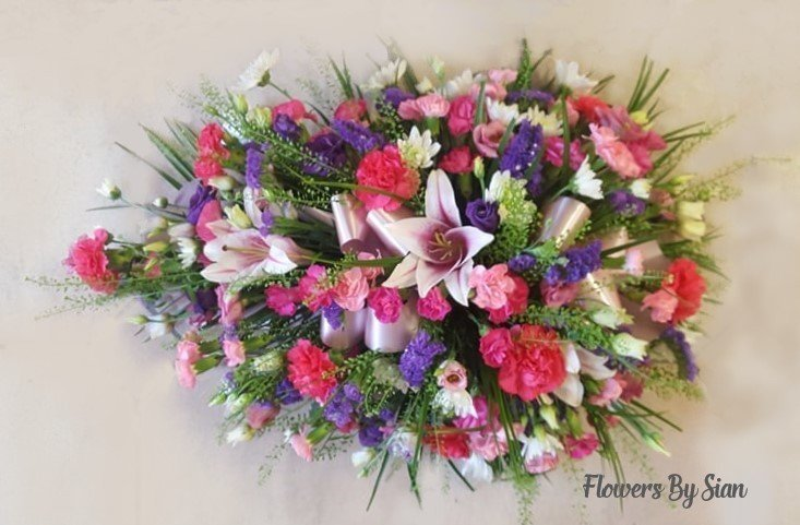 Mixed Flowers Funeral Spray